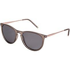 Pilgrim - Piper rose gold plated grey sunglasses