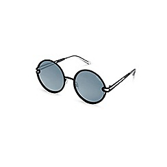 Quay Australia - Black 'Ukiyo' oversized round sunglasses