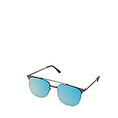 Quay Australia - Gunmetal 'Private Eyes' oversized square sunglasses