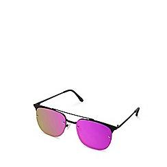 Quay Australia - Black 'Private Eyes' oversized square sunglasses