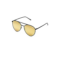 Quay Australia - Black 'Indio' oversized aviator sunglasses