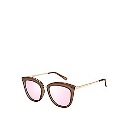 Le Specs - Brown modern cat eye sunglasses