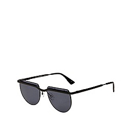 Le Specs - Black rimless square sunglasses