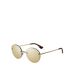Le Specs - Gold round sunglasses