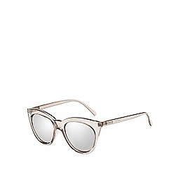 Le Specs - Silver sharp cat eye sunglasses