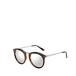Le Specs - Brown classic round sunglasses