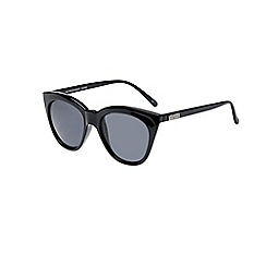 Le Specs - Black sharp cat eye sunglasses