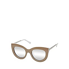 Seafolly - Brown rounded cat eye sunglasses