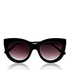 Seafolly - Black rounded cat eye sunglasses