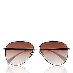 Seafolly - Brown classic aviator sunglasses with mirror lenses