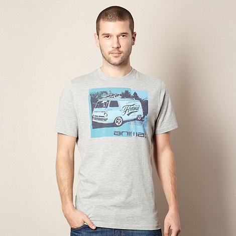 Animal - Grey +Freeride+ van printed t-shirt