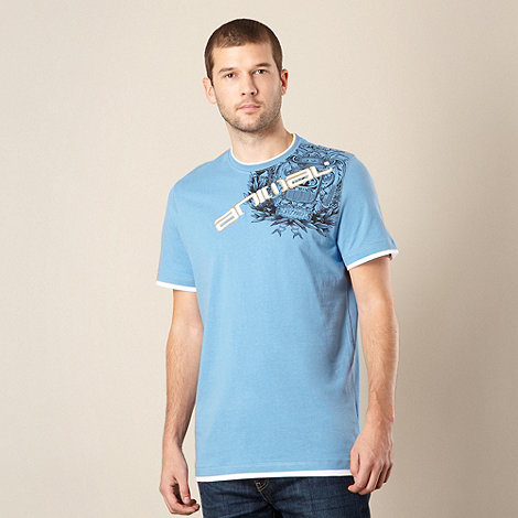 Animal - Light blue applique logo t-shirt