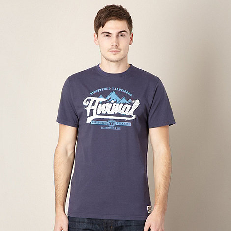Animal - Dark blue applique logo t-shirt