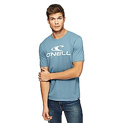 O'Neill - Light blue logo print t-shirt