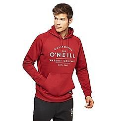 O'Neill - Red logo print hoodie