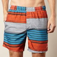 Orange print swimming shorts