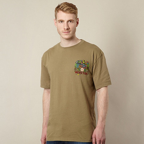 Weird Fish - Khaki +Sgt Kippers Club Pond+ print t-shirt