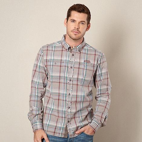 Weird Fish - Light grey checked shirt