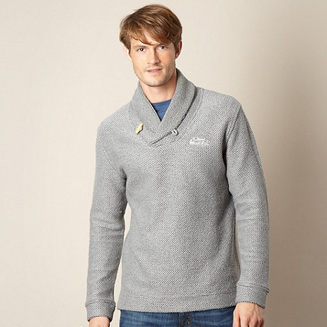 Weird Fish - Grey Macaroni shawl neck sweater