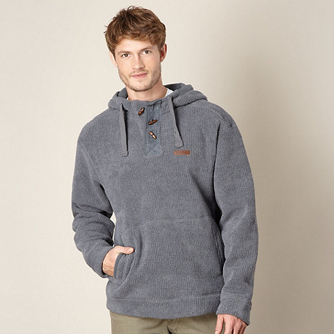Weird Fish - Grey hooded textured fleece top