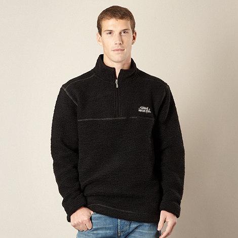Weird Fish - Black textured knitted fleece