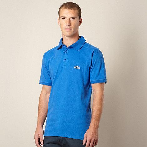 Weird Fish - Bright blue jersey polo shirt