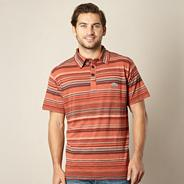 Orange multi striped polo shirt