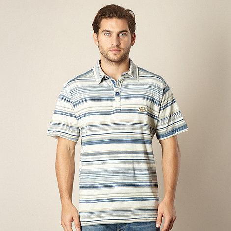 Weird Fish - Blue striped polo shirt