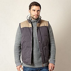 Weird Fish - Big and tall dark grey padded gilet