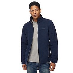 Regatta - Navy sherpa lined zip through sweater