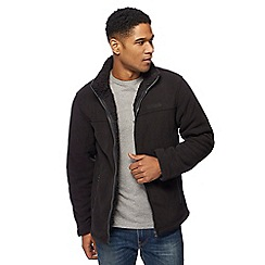 Regatta - Big and tall black sherpa lined zip through sweater
