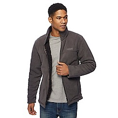 Regatta - Big and tall grey sherpa lined zip through sweater