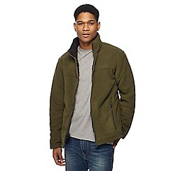 Regatta - Big and tall khaki sherpa lined zip through sweater