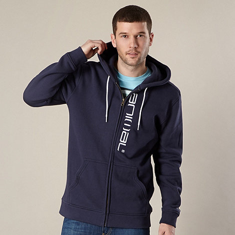 Animal - Blue logo zip through hoodie