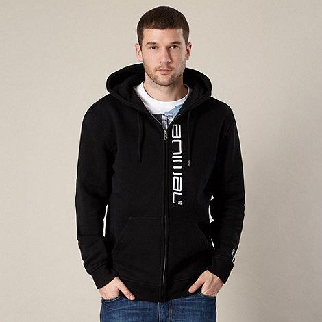 Animal - Black embroidered logo hoodie