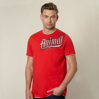 Animal Red applique logo t-shirt product image