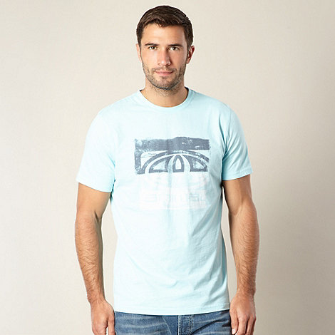 Animal - Light blue distressed logo t-shirt