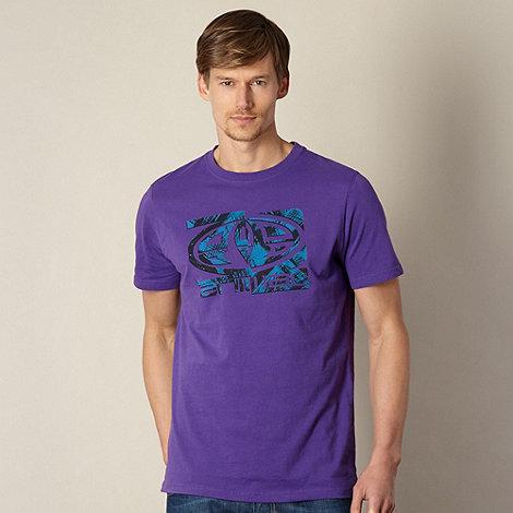 Animal - Purple crosshatch logo t-shirt