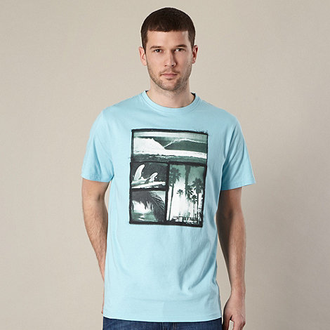 Animal - Light blue graphic photo t-shirt