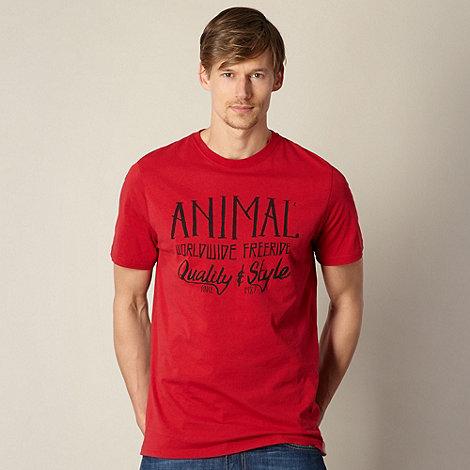 Animal - Dark red +Freeride+ logo t-shirt