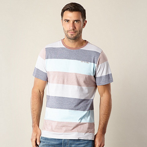 Animal - Light blue block striped t-shirt