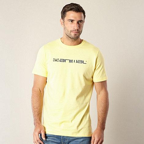 Animal - Yellow logo print t-shirt