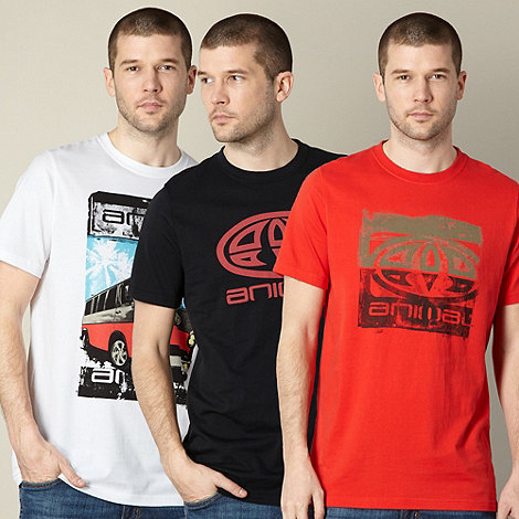 Animal - Pack of three red logo t-shirts
