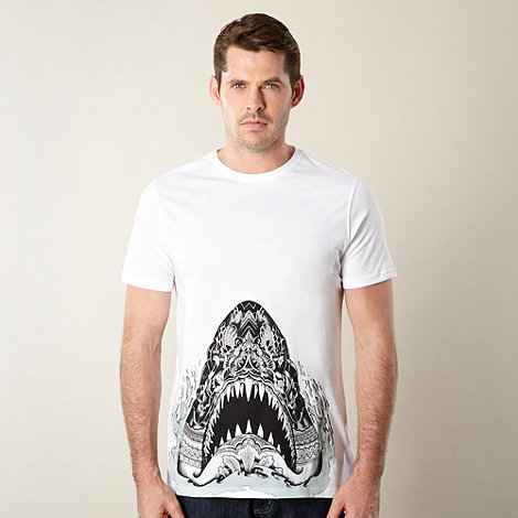 Animal - White shark printed t-shirt