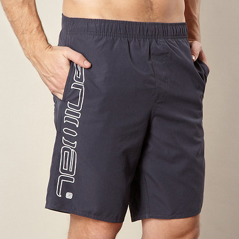 Animal - Navy logo side swim shorts
