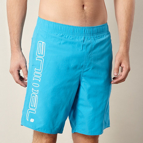 Animal - Bright blue side logo swim shorts