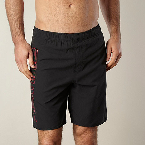 Animal - Black logo side swim shorts