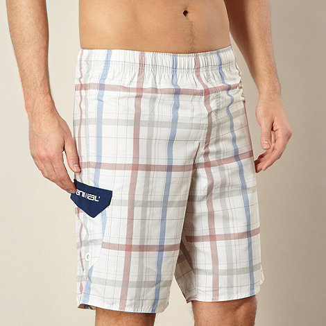 Animal - Natural checked swim shorts