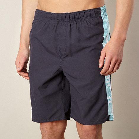 Animal - Navy cut and sew logo swim shorts