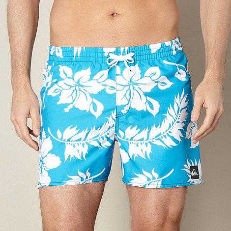Quiksilver - Blue floral swim shorts